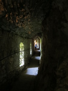 The cave at Carreg Cennen Castle